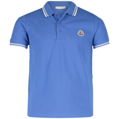 Afbeelding van Moncler 8306505 kinder polo blauw