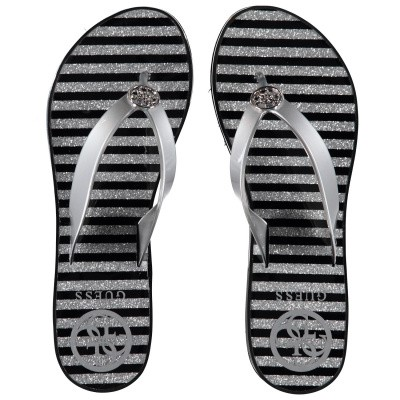 Picture of Guess FL6ENZELE21 womens flipflops silver