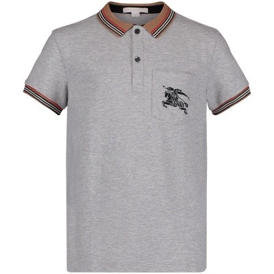 Picture of Burberry 8002002 kids polo shirt grey
