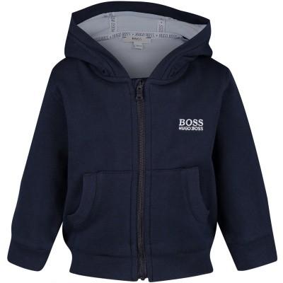 Afbeelding van Boss J95263 baby vest navy