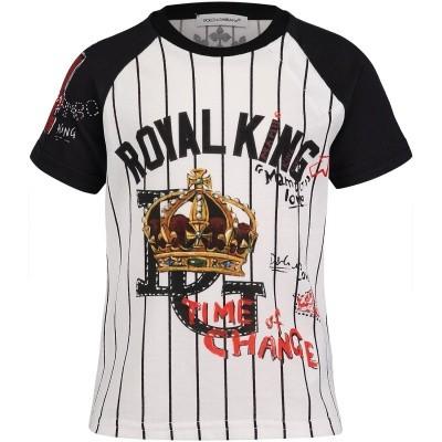 Afbeelding van Dolce & Gabbana L1JT8I G7OQX baby t-shirt wit