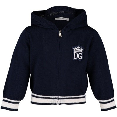 Afbeelding van Dolce & Gabbana L1KW01JAVDZ baby vest donker blauw