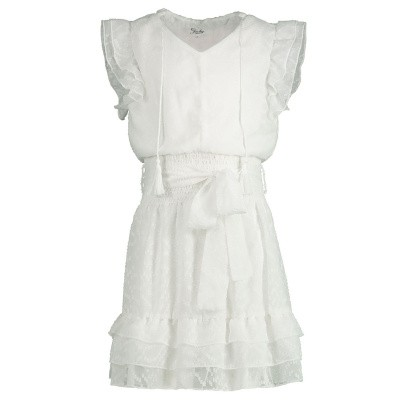 Picture of Jacky Girls JGHS19023 kids dress off white
