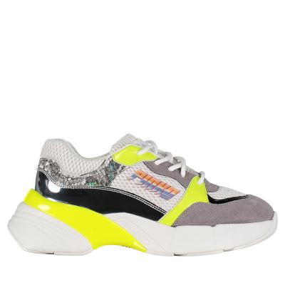 Afbeelding van Pinko 1H20LQ dames sneakers fluor geel
