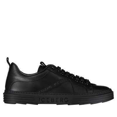 Picture of Iceberg IU1036 mens sneakers black