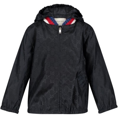 Picture of Gucci 498475 baby coat navy