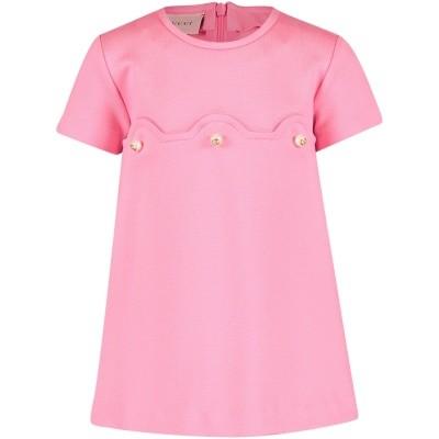 Afbeelding van Gucci 518796 babyjurkje roze