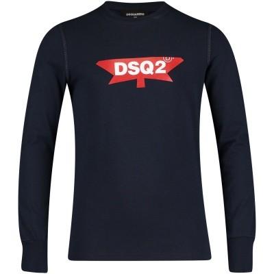 Afbeelding van Dsquared2 DQ030R kinder t-shirt navy