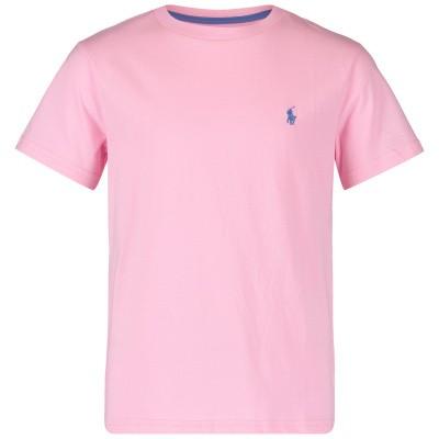 Afbeelding van Ralph Lauren 703638K kinder t-shirt licht roze