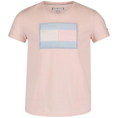 Afbeelding van Tommy Hilfiger KG0KG04082 kinder t-shirt licht roze