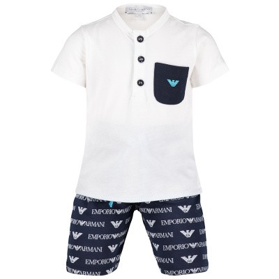 Picture of Armani 3GHV03 baby set white