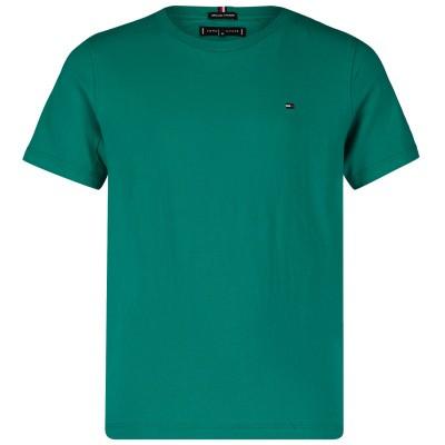 Afbeelding van Tommy Hilfiger KB0KB04692 kinder t-shirt groen