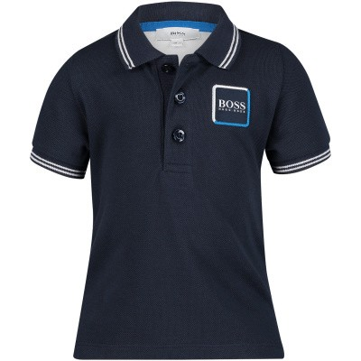 Picture of Boss J05698 baby poloshirt navy