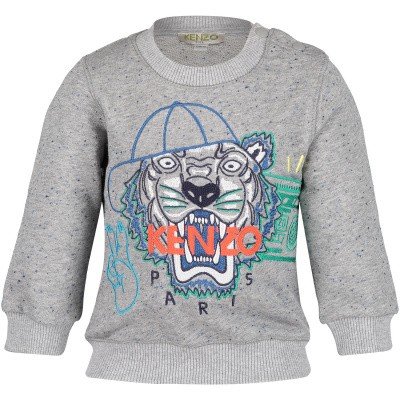 Picture of Kenzo KN15658BB baby sweater light gray