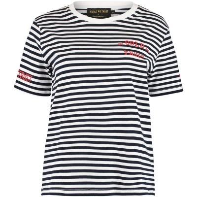 Afbeelding van in Gold We Trust FAW003 dames t-shirt navy