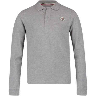 Picture of Moncler 8307750 kids polo shirt light gray