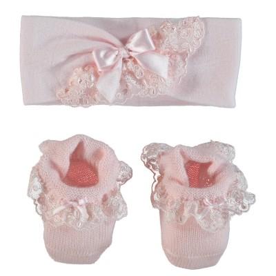 Afbeelding van La Perla 45139 48623 babysetje licht roze