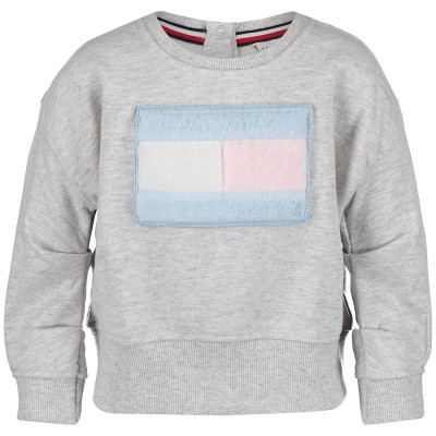 Picture of Tommy Hilfiger KG0KG04042B baby sweater light gray