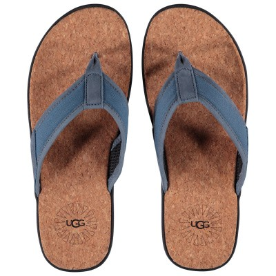 Picture of Ugg 1099749 womens flipflops light blue