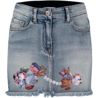 Afbeelding van MonnaLisa 192702SD kinderrokje jeans