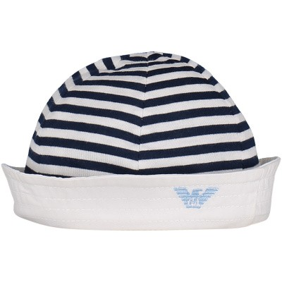 Picture of Armani 404366 baby hat navy