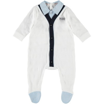 Picture of Boss J97149 baby playsuit white