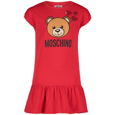 Picture of Moschino HDV07E kids dress red