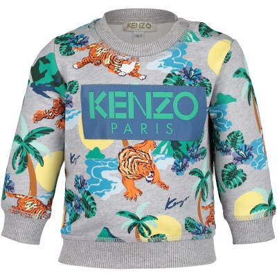 Picture of Kenzo KN15588BB baby sweater grey