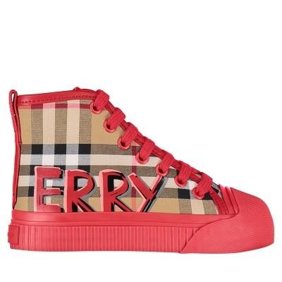 Afbeelding van Burberry 4076007 kindersneakers rood
