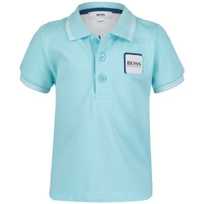 Picture of Boss J05698 baby poloshirt mint