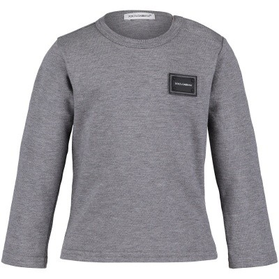 Afbeelding van Dolce & Gabbana L1JT7M G7OLK baby t-shirt grijs
