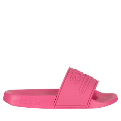 Picture of Gucci 553073 kids flipflops fluoro pink