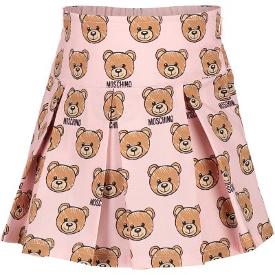 Picture of Moschino MDJ00T baby skirt light pink