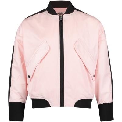 Afbeelding van Karl Lagerfeld Z16047 kinderjas licht roze