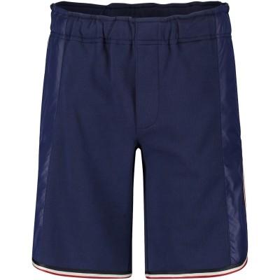 Afbeelding van Moncler 8705705 kinder shorts donker blauw