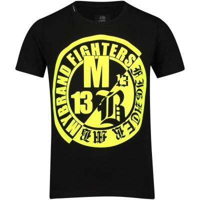 Afbeelding van My Brand BMBTS001MT025 kinder t-shirt zwart