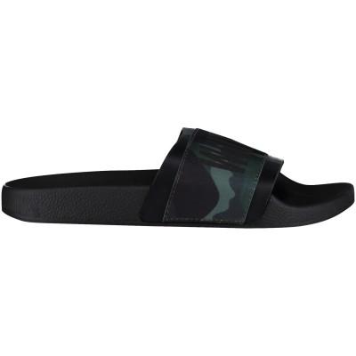 Afbeelding van The white Brand ELASTIC TWB MEN heren slippers army