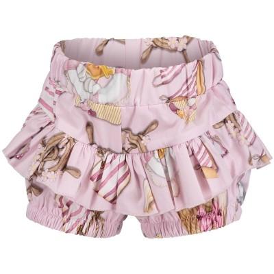 Afbeelding van MonnaLisa 311415 baby shorts licht roze