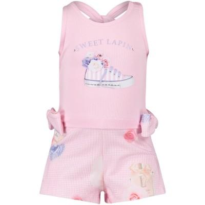 Afbeelding van Lapin 81E5218 baby jumpsuit licht roze