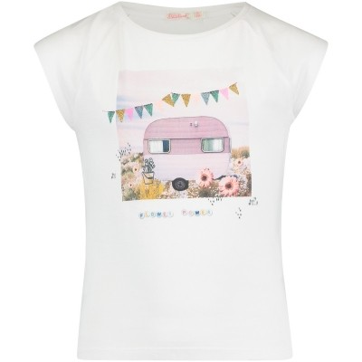 Afbeelding van Billieblush U15478 kinder t-shirt wit