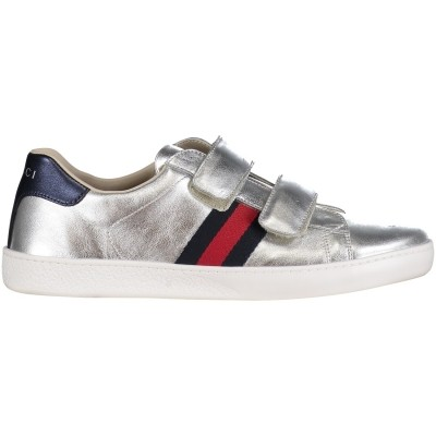 26cea0dfccd Picture of Gucci 455496 DXD60 kids sneaker silver