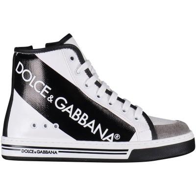 Afbeelding van Dolce & Gabbana DA0623 kindersneakers wit