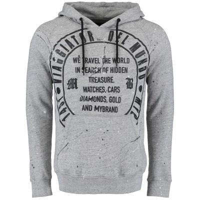 Afbeelding van My Brand MMBHO01C001 heren hoodie grijs
