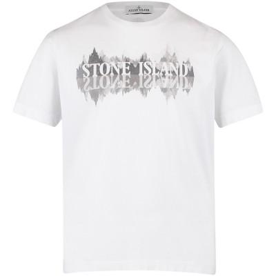 Afbeelding van Stone Island 681621058 kinder t-shirt wit