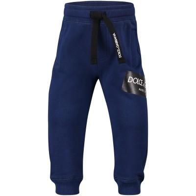 Afbeelding van Dolce & Gabbana L1JPR9 baby broekje cobalt blauw