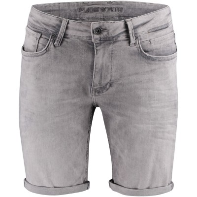 Afbeelding van Pure White THE STEVE heren shorts licht grijs