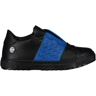 Afbeelding van Philipp Plein BSC0029 kindersneakers zwart