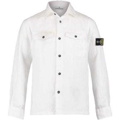 Afbeelding van Stone Island 681610102 kinder overhemd wit