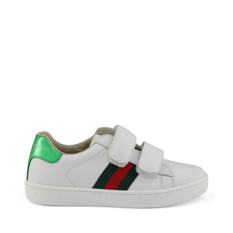 Afbeelding van Gucci 455448 kindersneakers wit