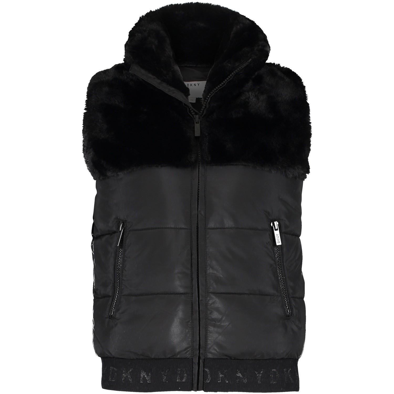 Afbeelding van DKNY D36592 kinder bodywarmer zwart